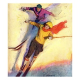 """Downhill Skiing ""January 1  1927"