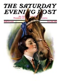 """""""Blue Ribbon Winner """" Saturday Evening Post Cover  March 19  1927"""