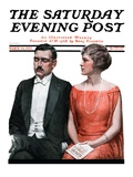 """Sleeping it Opera "" Saturday Evening Post Cover  March 24  1923"