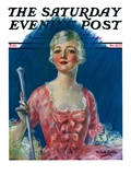 """""""Costumed Woman """" Saturday Evening Post Cover  December 10  1927"""