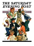 """Costumes for Play "" Saturday Evening Post Cover  November 17  1928"