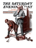 &quot;Putting around the Office &quot; Saturday Evening Post Cover  October 20  1923