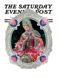 """Lace Valentine "" Saturday Evening Post Cover  February 15  1930"