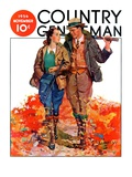 """Hunting Couple on Walk "" Country Gentleman Cover  November 1  1936"