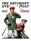 """Hole in One "" Saturday Evening Post Cover  September 11  1926"