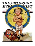 """Baby Pilot "" Saturday Evening Post Cover  January 28  1928"