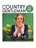"""Woman and Spring Flower "" Country Gentleman Cover  April 1  1934"