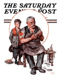 """Cobbler and Holey Shoe "" Saturday Evening Post Cover  January 30  1926"