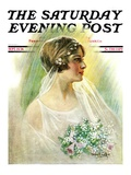 """September Bride "" Saturday Evening Post Cover  September 25  1926"