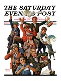 """School's Out "" Saturday Evening Post Cover  June 25  1927"