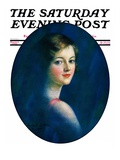 """Portrait of Young Woman "" Saturday Evening Post Cover  March 8  1930"