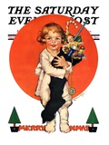 """Giant Christmas Stocking "" Saturday Evening Post Cover  December 18  1926"