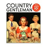 """""""Lunch Counter Wait """" Country Gentleman Cover  August 1  1934"""