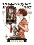 """Easter  1923 "" Saturday Evening Post Cover  March 31  1923"