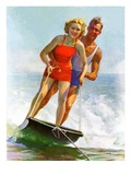 """Ski Boarding Couple ""June 27  1936"