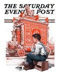"""Circus Calliope "" Saturday Evening Post Cover  May 23  1925"