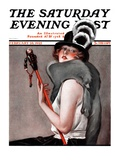 """Woman with Baton "" Saturday Evening Post Cover  February 28  1925"