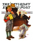 """Report Card "" Saturday Evening Post Cover  March 25  1939"