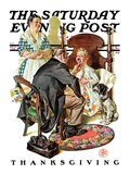 """Sore Throat "" Saturday Evening Post Cover  November 22  1930"