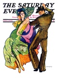 """The Flamenco "" Saturday Evening Post Cover  February 1  1930"