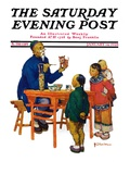"""Chinese Painting China "" Saturday Evening Post Cover  January 14  1928"