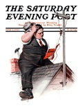 """Radio Antennae "" Saturday Evening Post Cover  May 2  1925"