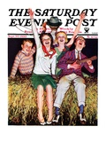 """Hayride "" Saturday Evening Post Cover  September 30  1933"
