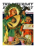"""Christmas Minstrels "" Saturday Evening Post Cover  December 21  1929"