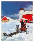 """Plowing Path to the Barn ""January 1  1947"