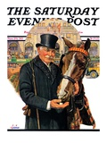 """Coachman and Horse "" Saturday Evening Post Cover  November 29  1930"