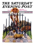 """Dog and His Bone "" Saturday Evening Post Cover  March 5  1927"