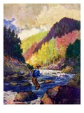 """Mountain Stream Fishing ""May 1  1938"