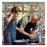 """Washing Up for Supper ""August 1  1944"