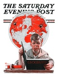 """Geography "" Saturday Evening Post Cover  September 29  1923"