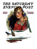 """Snow Birds "" Saturday Evening Post Cover  March 6  1926"