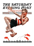 """Nose Dive "" Saturday Evening Post Cover  July 25  1925"