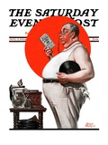"""""""Reduce to Music """" Saturday Evening Post Cover  August 2  1924"""