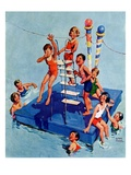 """Children on Swimming Platform ""July 1  1931"