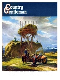 """Stacking Hay "" Country Gentleman Cover  July 1  1950"