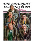 """Singing Men in Raccoon Coats "" Saturday Evening Post Cover  November 16  1929"