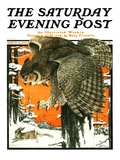 """Owl and Rabbit "" Saturday Evening Post Cover  March 14  1925"