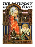 """Madonna and Child "" Saturday Evening Post Cover  December 22  1928"
