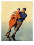"""""""Skating Couple """"February 1  1928"""
