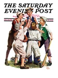 """Arguing the Call "" Saturday Evening Post Cover  August 30  1930"