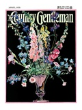"""Flowers in Silver Vase "" Country Gentleman Cover  April 1  1931"