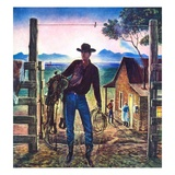 """Cowboy at End of the Day ""June 1  1947"