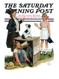 """Bozo  the Talking Dog "" Saturday Evening Post Cover  September 1  1928"