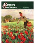 """Picking Tomatoes "" Country Gentleman Cover  September 1  1945"
