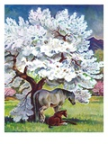"""Horses and Tree Blossoms ""May 1  1940"
