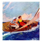 """Couple Sailing ""July 1  1937"
